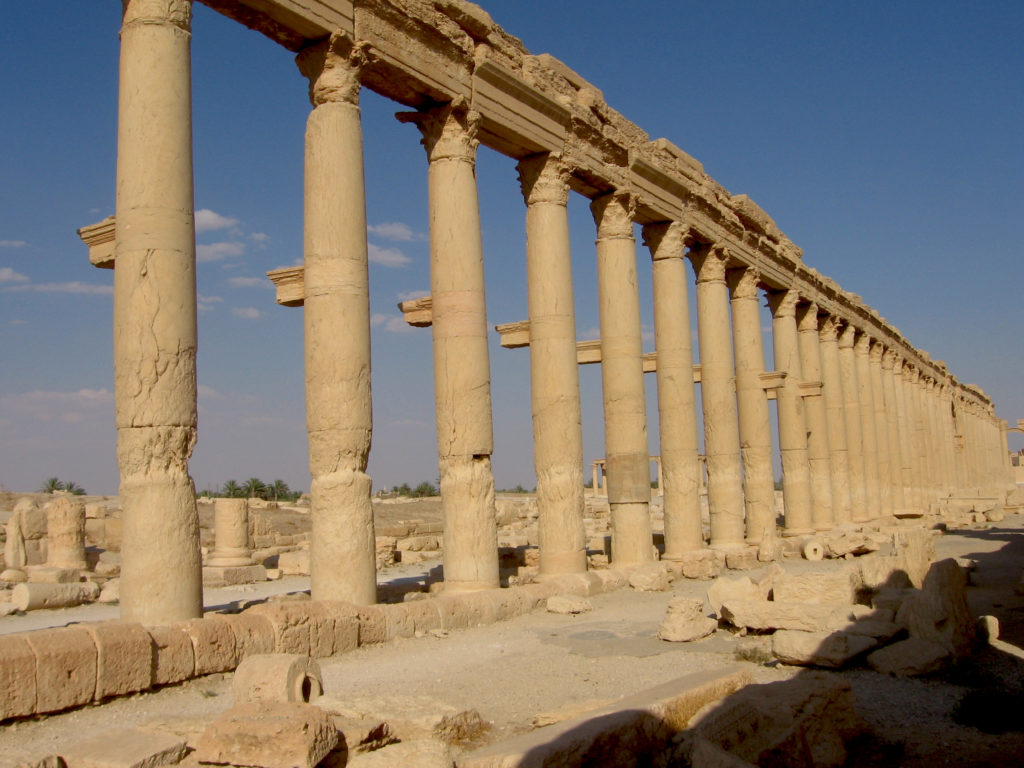 La grande colonnade - Syrie 2010