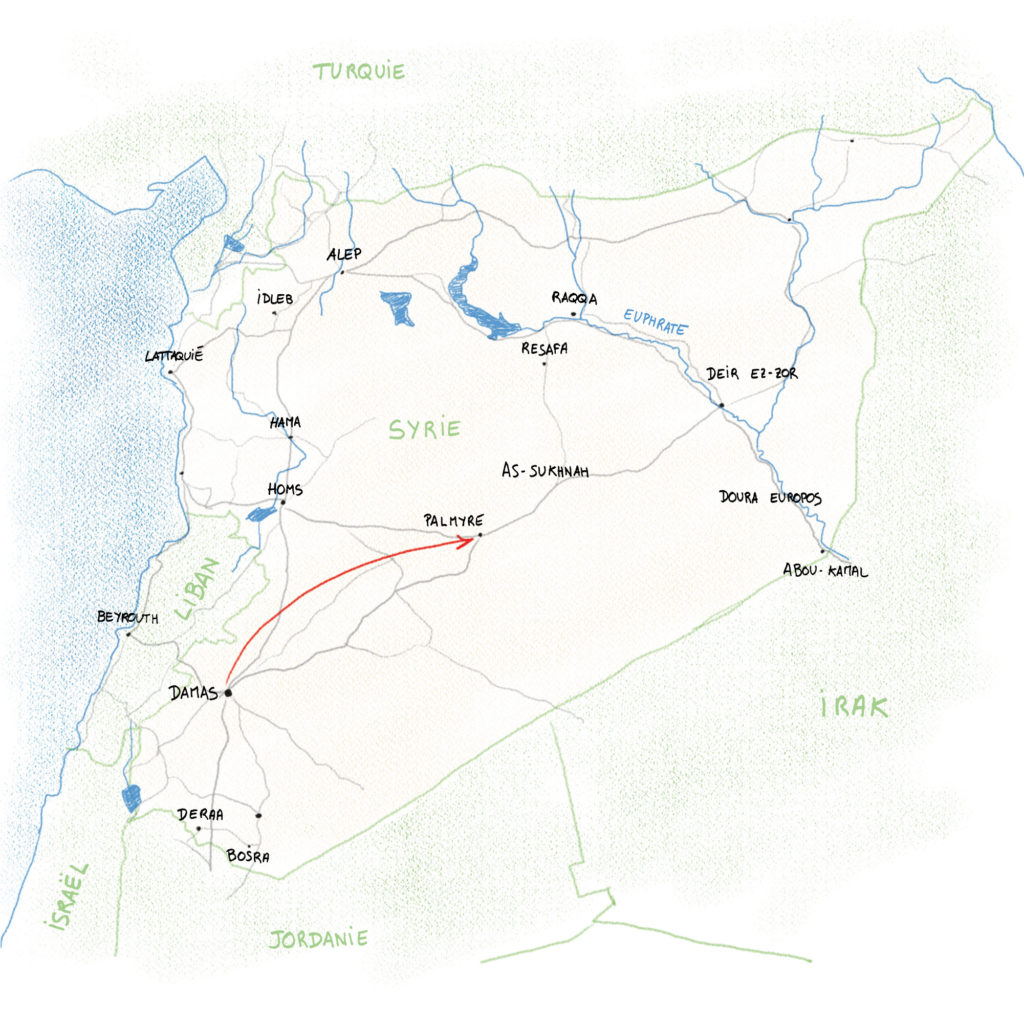 Damas à Palmyre - Syrie 2010